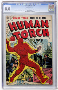 The Human Torch #38 (Atlas, 1954) CGC VF 8.0 Off-white to white pages