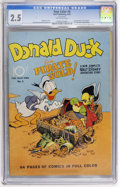 Golden Age (1938-1955):Cartoon Character, Four Color #9 Donald Duck (Dell, 1942) CGC GD+ 2.5 Off-white pages....