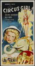 "Movie Posters:Adventure, Circus Girl (Republic, 1956). Three Sheet (41"" X 81"").Adventure...."
