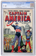 Golden Age (1938-1955):Superhero, Captain America Comics #76 Double Cover (Atlas, 1954) CGC FN/VF 7.0 Off-white to white pages....