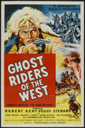 """Movie Posters:Serial, Ghost Riders of the West (Republic, 1954). One Sheet (27"""" X 41"""") Tri-Folded. Serial...."""