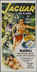 "Movie Posters:Adventure, Jaguar (Republic, 1955). Three Sheet (41"" X 81""). Adventure...."