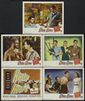 "Movie Posters:War, Hasty Heart (Warner Brothers, 1950). Title Lobby Card and LobbyCards (5) (11"" X 14""). War.... (Total: 6 Items)"