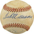 Autographs:Baseballs, Ted Williams and Bobby Doerr Dual-Signed Baseball. Evenly tonedvintage orb offered here carries the signatures of a pair o...