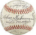 Autographs:Baseballs, 1983 Baseball Hall of Fame Induction Weekend Baseball Signed b 26. All 26 signatures on the ONL (Feeney) orb presented here...