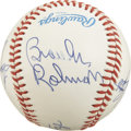 Autographs:Baseballs, Vintage American League Hall of Famers Multi-Signed Baseball.Signed at the Baseball Hall of Fame induction in Cooperstown...