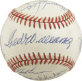 Autographs:Baseballs, Vintage Stars and Hall of Famers Multi-Signed Baseball. Ten ofbaseball's elite have checked in on clean OAL (Brown) orb se...