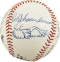 Autographs:Baseballs, National League Stars and Hall of Famers Multi-Signed Baseball. Atotal of eleven vintage stars of the National League hav...
