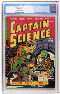 Captain Science #4 (Youthful Magazines, 1951) CGC VF/NM 9.0 Cream to off-white pages