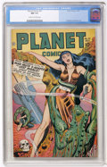 Golden Age (1938-1955):Science Fiction, Planet Comics #51 (Fiction House, 1947) CGC NM 9.4 Cream to off-white pages....