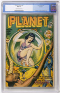 Golden Age (1938-1955):Science Fiction, Planet Comics #44 Rockford pedigree (Fiction House, 1946) CGC NM9.4 Cream to off-white pages....