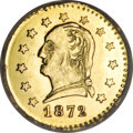 California Fractional Gold, 1872 25C Washington Round 25 Cents, BG-818, Low R.4. MS66 ProoflikeNGC....