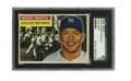 Baseball Cards:Singles (1950-1959), 1956 Topps Mickey Mantle #135 SGC EX 60. Here we grace you with abeautiful example of the most valuable card from the 1956...
