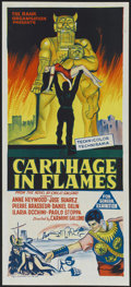 "Movie Posters:Historical Drama, Carthage in Flames (Columbia, 1960). Australian Daybill (13.5"" X30""). Historical Drama...."
