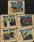 "Movie Posters:Adventure, Beau Geste (Paramount, 1939). Lobby Cards (5) (11"" X 14"").Adventure.... (Total: 5 Items)"