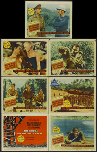 "The Bridge On The River Kwai (Columbia, 1958). Title Lobby Card and Lobby Cards (6) (11"" X 14""). Academy Award..."