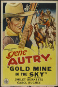 """Movie Posters:Western, Gold Mine In the Sky (Republic, R-1940s). One Sheet (27"""" X 41""""). Western...."""