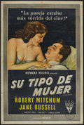 "Movie Posters:Crime, His Kind of Woman (RKO, 1951). Argentinean Poster (29"" X 43"").Crime...."