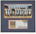 Autographs:Others, 500 Home Run Club Multi-Signed First Day Cover Display. Therecognizable art of Ron Lewis serves as the visual accompanimen...