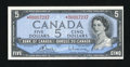 Canadian Currency: , BC-39cA $5 1954.. ...