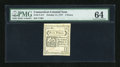 Colonial Notes:Connecticut, Connecticut October 11, 1777 5d PMG Choice Uncirculated 64....