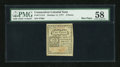 Colonial Notes:Connecticut, Connecticut October 11, 1777 2d PMG Choice About Unc 58....