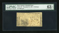 Colonial Notes:New Jersey, New Jersey December 31, 1763 6s PMG Choice Uncirculated 63 EPQ....