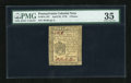 Colonial Notes:Pennsylvania, Pennsylvania April 25, 1776 3d PMG Choice Very Fine 35....