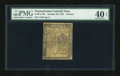 Colonial Notes:Pennsylvania, Pennsylvania October 25, 1775 6d PMG Extremely Fine 40 EPQ....