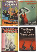 Books:First Editions, Lot of Four Sci-Fi/Adventure First Editions, One Signed,... (Total:4 Items)