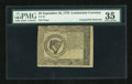 Colonial Notes:Continental Congress Issues, Continental Currency September 26, 1778 $8 Blue Paper CounterfeitDetector PMG Choice Very Fine 35....