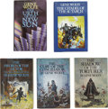 """Books:Fiction, Gene Wolfe. Five """"Book of the New Sun"""" Series Volumes, OneSigned,... (Total: 5 Items)"""