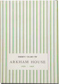 Books:First Editions, August Derleth. Thirty Years of Arkham House, 1939-1969: AHistory and Bibliography. Sauk City, Wisconsin: Arkham Ho...
