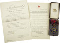 Autographs:Non-American, Insignia of Commander of the Order of the Star of Romania (SteauaRomaniei), Kingdom of Romania,... (Total: 2 Items)