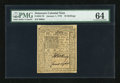 Colonial Notes:Delaware, Delaware January 1, 1776 10s PMG Choice Uncirculated 64....
