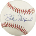 Autographs:Baseballs, Stan Musial Single Signed Baseball. Elegant transmission of Stanthe Man's Hall of Fame signature resides on the sweet spot...