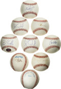 Autographs:Baseballs, Group of Single Signed Baseballs Lot of 9. We offer a lot ofofficial baseballs autographed by some of the modern day game'...