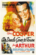 "Movie Posters:Comedy, Mr. Deeds Goes to Town (Columbia, 1936). One Sheet (27"" X 41"")Style B...."