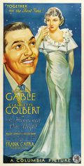"Movie Posters:Academy Award Winner, It Happened One Night (Columbia, 1934). Three Sheet (41"" X 81"") Style B...."