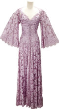 Movie/TV Memorabilia:Costumes, Nolan Miller Designed Lavender French Lace Nightgown and CharmeuseNegligee for Joan Collins in Her Role as Alexis on Dynast...(Total: 1 Item)