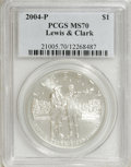 Modern Issues: , 2004-P $1 Lewis and Clark Silver Dollar MS70 PCGS. PCGS Population (69/0). Numismedia Wsl. Price for NG...