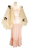 Movie/TV Memorabilia:Costumes, Nolan Miller Costume Design for Poker Alice, Three-PieceIvory and Pink Dressing Costume Worn by Elizabeth Taylor. 1...(Total: 1 Item)