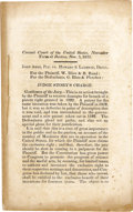 Books:Pamphlets & Tracts, 1833 United States Circuit Court of Appeals Printed LegalDocument....