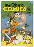 Golden Age (1938-1955):Cartoon Character, Walt Disney's Comics and Stories #24 (Dell, 1942) Condition:GD/VG....