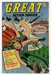 Great Action Comics #9 (I.W., 1958) Condition: PR 0.5 Missing Splash Page