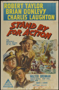"""Movie Posters:War, Stand By For Action (MGM, 1943). Australian One Sheet (26.5"""" X40""""). War...."""