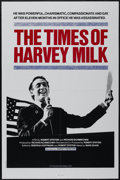 "Movie Posters:Documentary, The Times of Harvey Milk (TC Films International, 1984). One Sheet (27"" X 41""). Documentary...."
