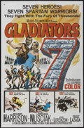 """Movie Posters:Action, Gladiators 7 (MGM, 1963). One Sheet (27"""" X 41""""). Action...."""