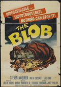 "Movie Posters:Science Fiction, The Blob (Paramount, 1958). One Sheet (26.75"" X 38.5""). ScienceFiction...."