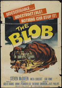 "The Blob (Paramount, 1958). One Sheet (26.75"" X 38.5""). Science Fiction"